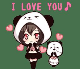PANDA GIRL [ PAO & FLAN ] sticker #970653
