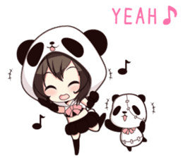 PANDA GIRL [ PAO & FLAN ] sticker #970655