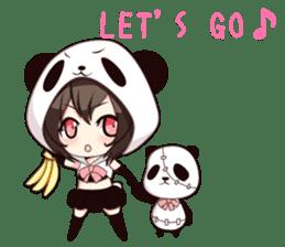 PANDA GIRL [ PAO & FLAN ] sticker #970656