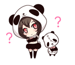 PANDA GIRL [ PAO & FLAN ] sticker #970657