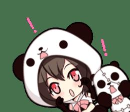PANDA GIRL [ PAO & FLAN ] sticker #970658