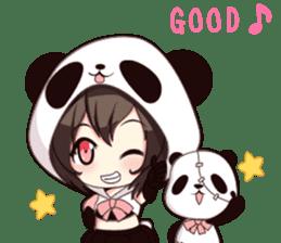 PANDA GIRL [ PAO & FLAN ] sticker #970660
