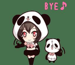 PANDA GIRL [ PAO & FLAN ] sticker #970661