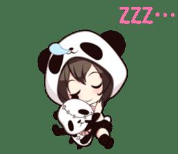PANDA GIRL [ PAO & FLAN ] sticker #970663
