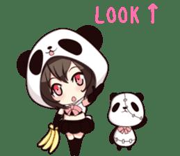 PANDA GIRL [ PAO & FLAN ] sticker #970664