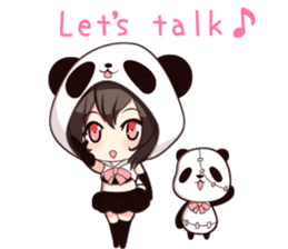 PANDA GIRL [ PAO & FLAN ] sticker #970666