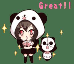 PANDA GIRL [ PAO & FLAN ] sticker #970667