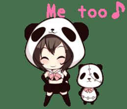 PANDA GIRL [ PAO & FLAN ] sticker #970668