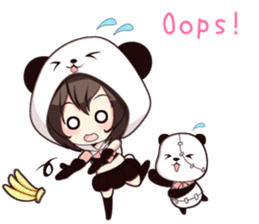 PANDA GIRL [ PAO & FLAN ] sticker #970669