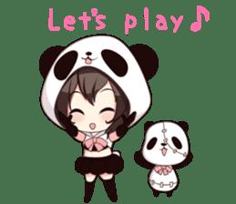 PANDA GIRL [ PAO & FLAN ] sticker #970671