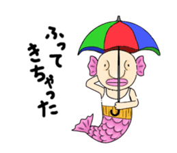 Old man of fish sticker #977197