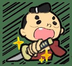 Cute Samurai sticker #977744