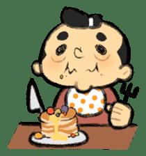 Cute Samurai sticker #977757