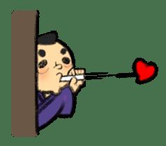 Cute Samurai sticker #977765