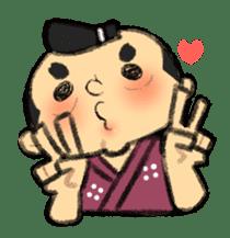 Cute Samurai sticker #977766