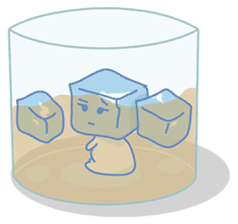 Cubic the inconvenient ice cube.. sticker #978269