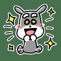 "Cuddly mascot ""Momo"" sticker #980001"