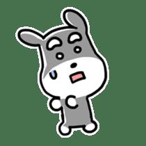 "Cuddly mascot ""Momo"" sticker #980003"