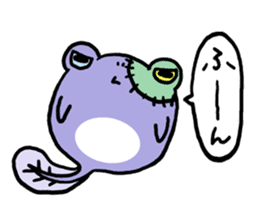 Tadpole*Zombie(transparent type) sticker #983462