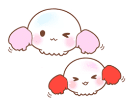 Merry friends of a jellyfish and the sea sticker #984117