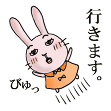 Daily life of funny rabbit sticker #984647