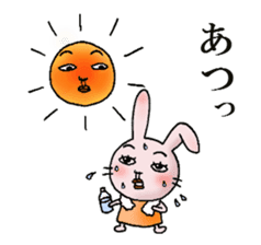 Daily life of funny rabbit sticker #984660