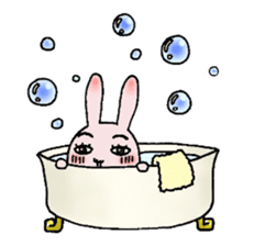 Daily life of funny rabbit sticker #984662
