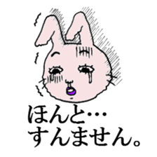 Daily life of funny rabbit sticker #984675