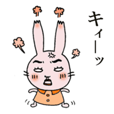 Daily life of funny rabbit sticker #984676