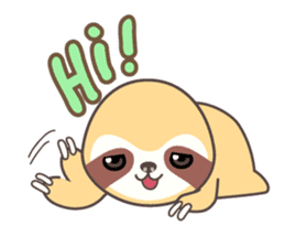 Soni, the cute little sloth sticker #985409