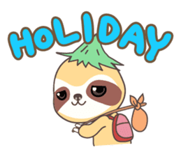 Soni, the cute little sloth sticker #985416