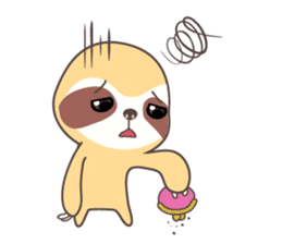 Soni, the cute little sloth sticker #985429