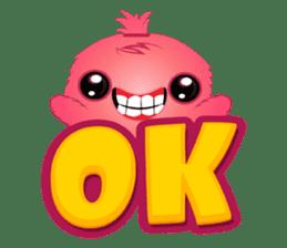 Monsta, the cute little monster sticker #986058