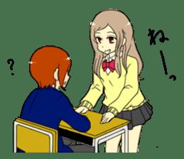 Japanese high school life sticker #986533