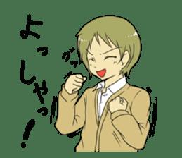 Japanese high school life sticker #986540