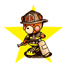 firefighter(bear)English version