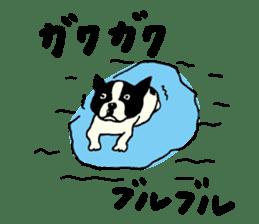 "MANGA ""French Bulldog in Japan."" sticker #992417"