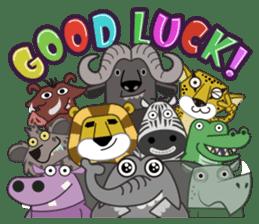Amusing animal friends / Team Africa sticker #993127