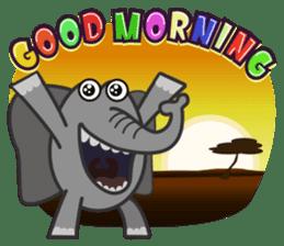 Amusing animal friends / Team Africa sticker #993128