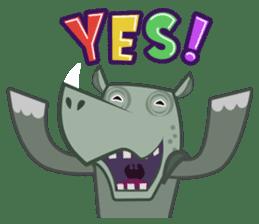 Amusing animal friends / Team Africa sticker #993134