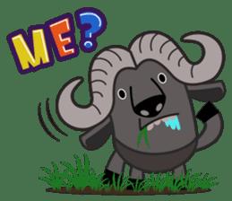 Amusing animal friends / Team Africa sticker #993136