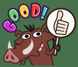 Amusing animal friends / Team Africa sticker #993143
