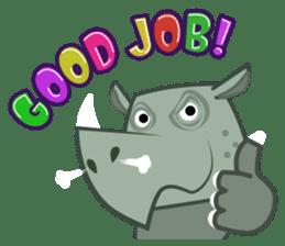 Amusing animal friends / Team Africa sticker #993148