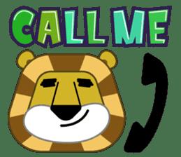 Amusing animal friends / Team Africa sticker #993156
