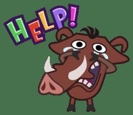 Amusing animal friends / Team Africa sticker #993158