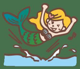 lovely mermaid sticker #993210