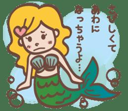 lovely mermaid sticker #993223