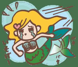lovely mermaid sticker #993225