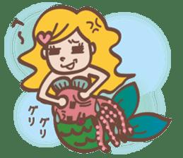 lovely mermaid sticker #993229