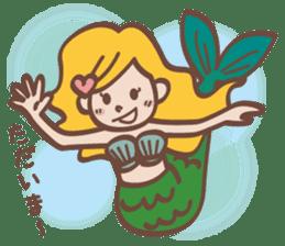 lovely mermaid sticker #993233